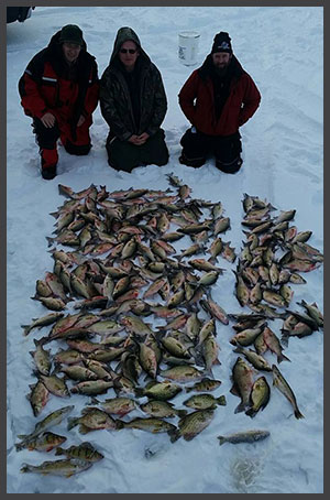 Winnegago Ice Fishing Perch and Panfish