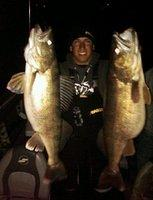 11 and 13lb Walleye April 2011